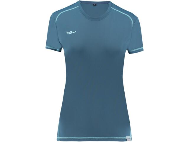 Kaikkialla Tiina - Camiseta manga corta Mujer - Azul petróleo